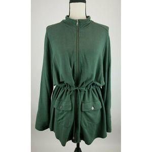 Cynthia Rowley Jacket Womens 1X Green A62-09Z